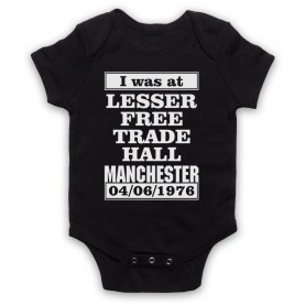 I Was At Lesser Free Trade Hall Manchester Gig Black Baby Grow