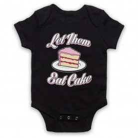 Let Them Eat Cake Marie Antoinette Historical Quote Black Baby Grow