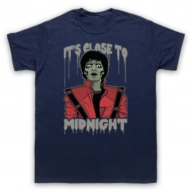 Michael Jackson Thriller  Mens Navy Blue T-Shirt