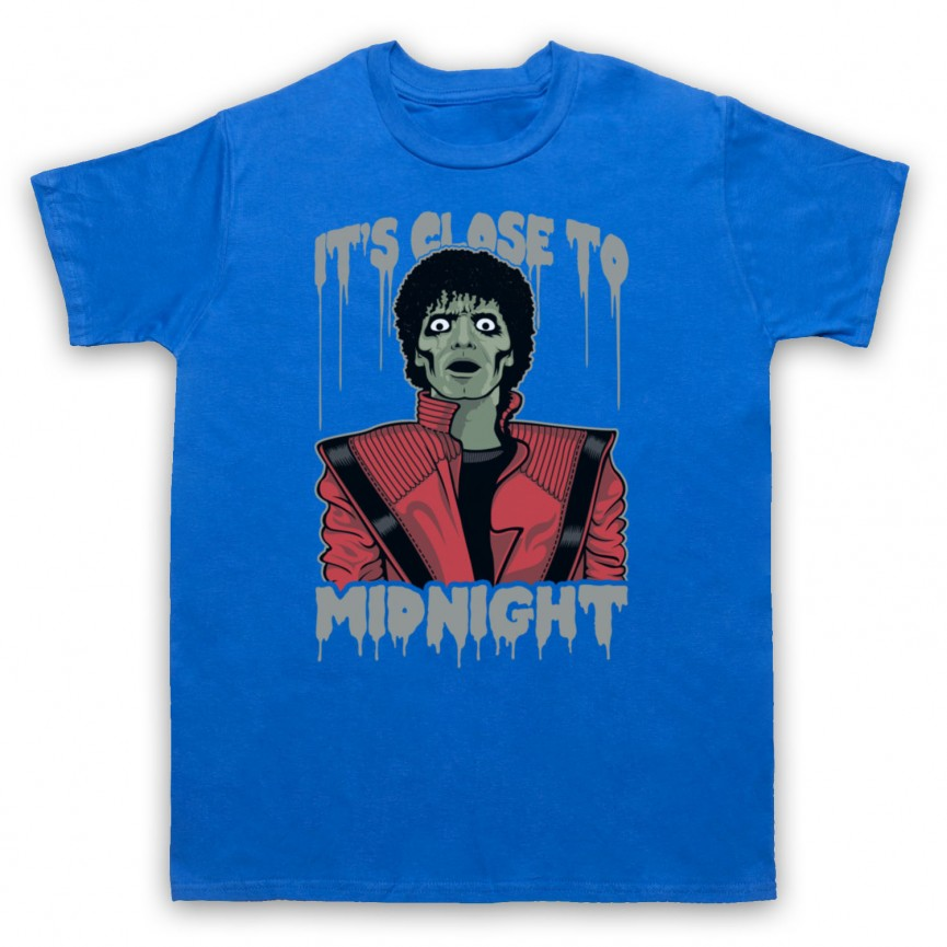 Michael Jackson Thriller  Mens Royal Blue T-Shirt