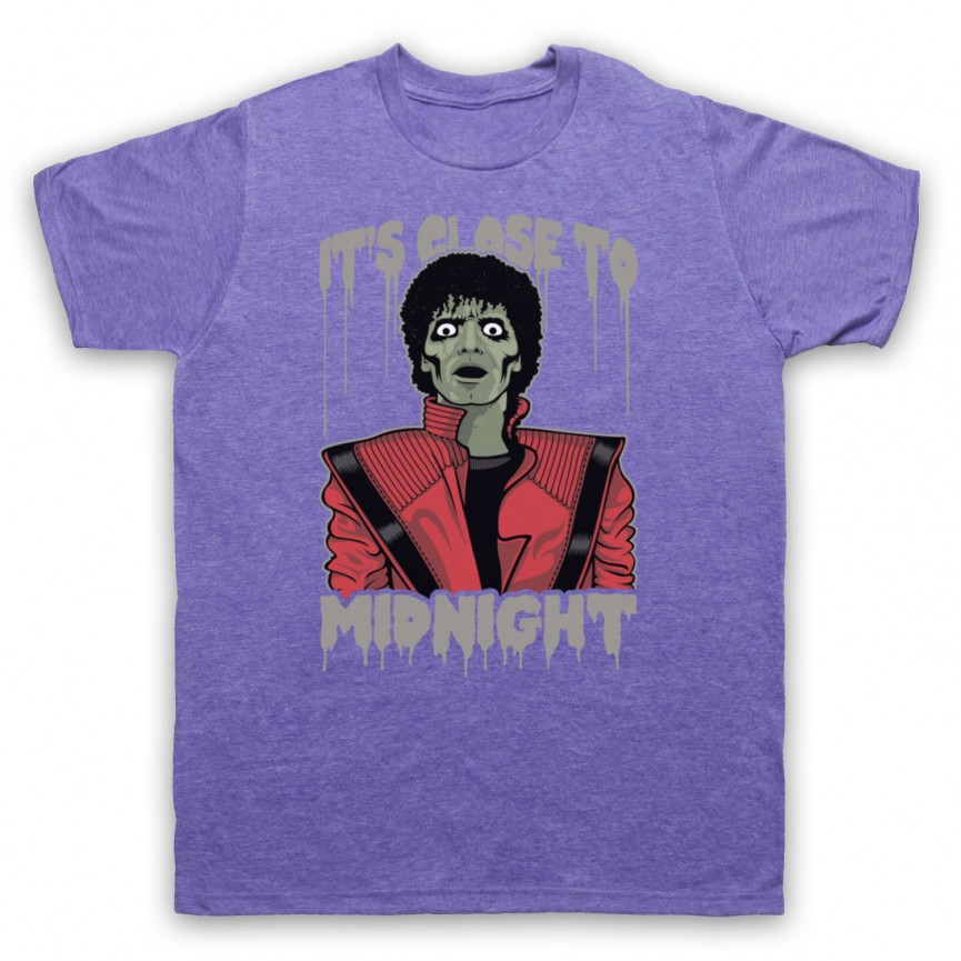 Michael Jackson Thriller  Mens Heather Purple T-Shirt