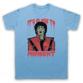 Michael Jackson Thriller  Mens Sky Blue T-Shirt