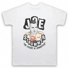 Clash Joe Strummer The Future Is Unwritten Mens White T-Shirt
