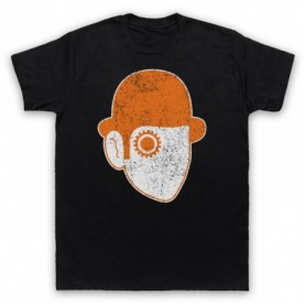 A Clockwork Orange Droog Face Mens Black T-Shirt