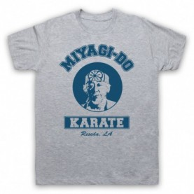 Karate Kid Mr Miyagi Mens Heather Grey T-Shirt