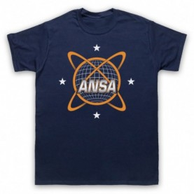 Planet Of The Apes ANSA Logo Mens Navy Blue T-Shirt