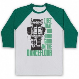 Arctic Monkeys I Bet That You Look Good On The Dance Floor Adults White & Green Baseball Tee