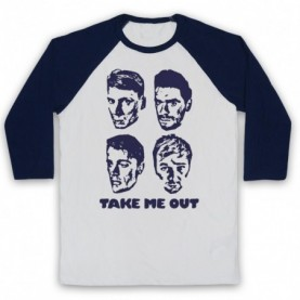 Franz Ferdinand Take Me Out Adults White & Navy Blue Baseball Tee