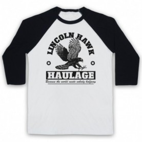 Over The Top Lincoln Hawk Haulage Sylvester Stallone Adults White & Black Baseball Tee