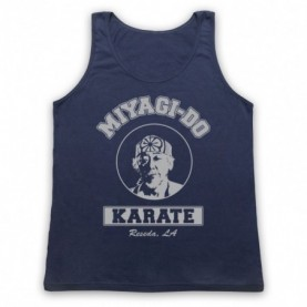 Karate Kid Mr Miyagi Adults Navy Blue Tank Top
