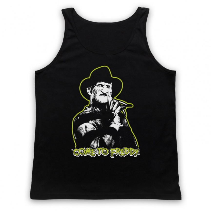 A Nightmare On Elm Street Come To Freddy Adults Black Tank Top