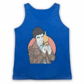 Oasis Noel Gallagher Award Finger Adults Royal Blue Tank Top