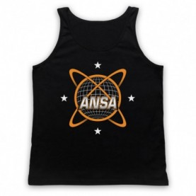 Planet Of The Apes ANSA Logo Adults Black Tank Top
