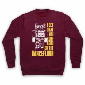 Arctic Monkeys I Bet That You Look Good On The Dance Floor Adults Burgundy Sweatshirt