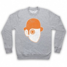 A Clockwork Orange Droog Face Adults Heather Grey Sweatshirt