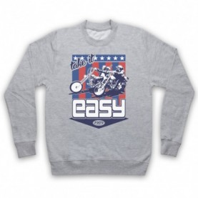 Easy Rider Take It Easy Adults Heather Grey Sweatshirt