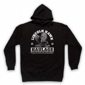 Over The Top Lincoln Hawk Haulage Sylvester Stallone Adults Black Pullover Hoodie