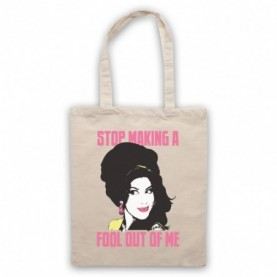 Amy Winehouse Valerie Natural Tote Bag