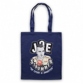 Clash Joe Strummer The Future Is Unwritten Navy Blue Tote Bag