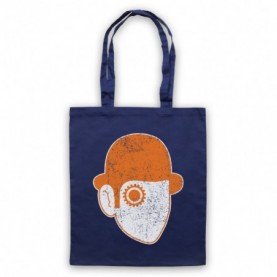A Clockwork Orange Droog Face Navy Blue Tote Bag