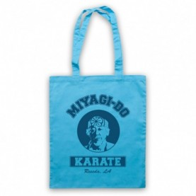 Karate Kid Mr Miyagi Light Blue Tote Bag