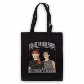 Lost Boys The Frog Brothers Dedicated To A Higher Purpose Black Tote Bag