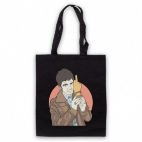 Oasis Noel Gallagher Award Finger Black Tote Bag
