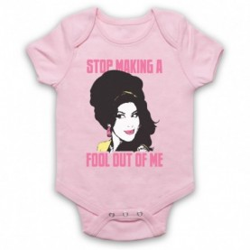 Amy Winehouse Valerie Light Pink Baby Grow