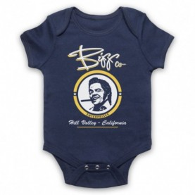 Back To The Future Biff Co Navy Blue Baby Grow
