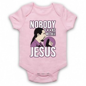 Big Lebowski Nobody Fucks With The Jesus Light Pink Baby Grow
