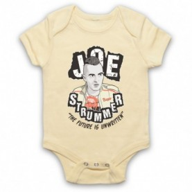 Clash Joe Strummer The Future Is Unwritten Light Yellow Baby Grow