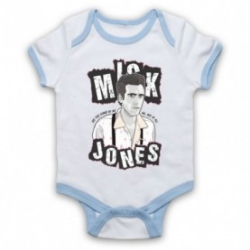 Clash Mick Jones Train In Vain White & Light Blue Baby Grow
