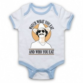 Dallas Buyers Club Watch What You Eat And Who You Eat White & Light Blue Baby Grow
