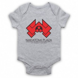Die Hard Nakatomi Plaza Heather Grey Baby Grow