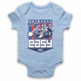 Easy Rider Take It Easy Light Blue Baby Grow