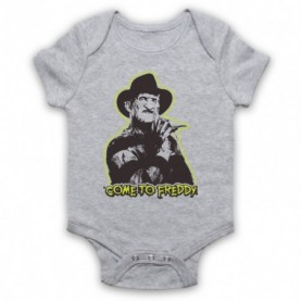 A Nightmare On Elm Street Come To Freddy Heather Grey Baby Grow