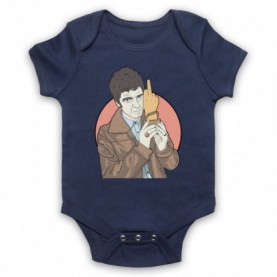 Oasis Noel Gallagher Award Finger Navy Blue Baby Grow