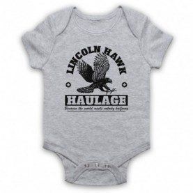 Over The Top Lincoln Hawk Haulage Sylvester Stallone Heather Grey Baby Grow