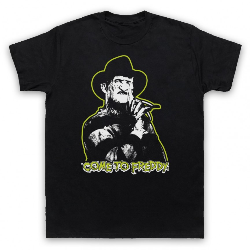A Nightmare On Elm Street Come To Freddy Mens Black T-Shirt