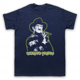 A Nightmare On Elm Street Come To Freddy Mens Navy Blue T-Shirt