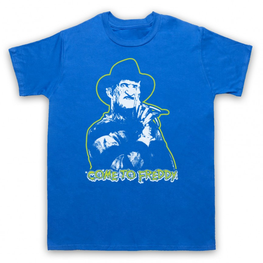 A Nightmare On Elm Street Come To Freddy Mens Royal Blue T-Shirt