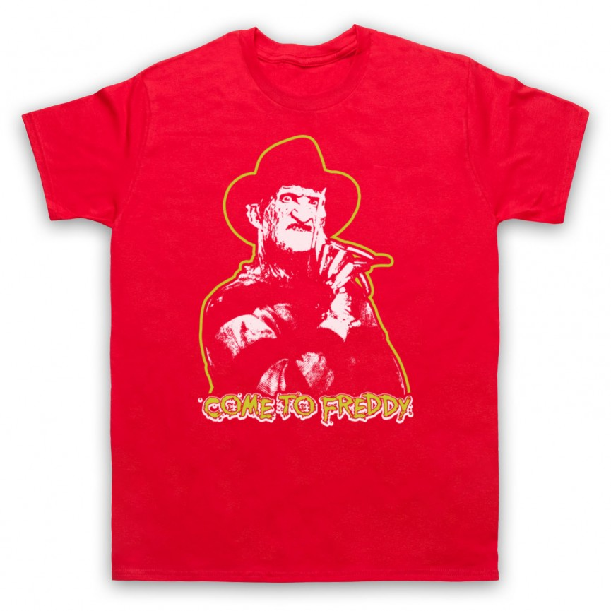 A Nightmare On Elm Street Come To Freddy Mens Red T-Shirt