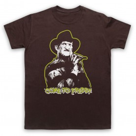 A Nightmare On Elm Street Come To Freddy Mens Brown T-Shirt