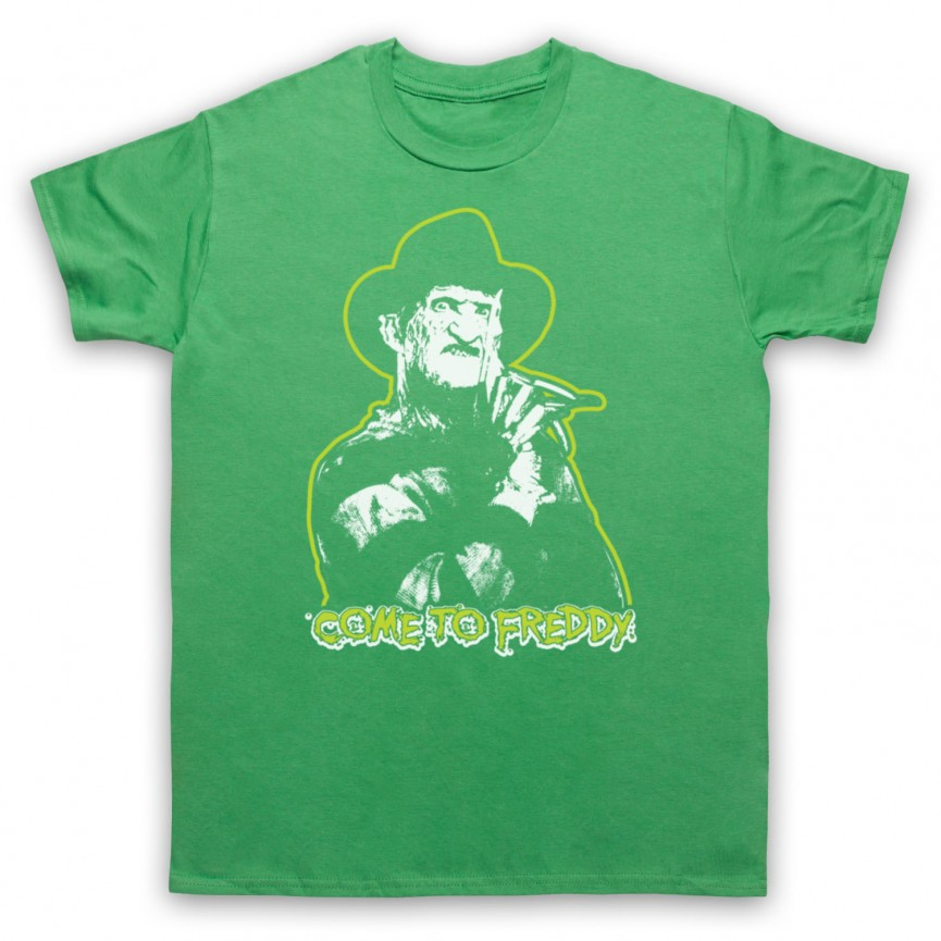 A Nightmare On Elm Street Come To Freddy Mens Green T-Shirt