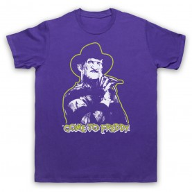 A Nightmare On Elm Street Come To Freddy Mens Purple T-Shirt