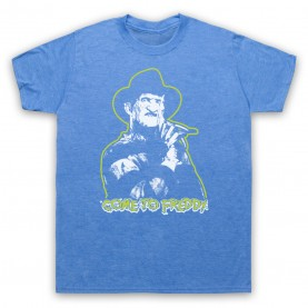 A Nightmare On Elm Street Come To Freddy Mens Heather Blue T-Shirt