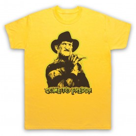 A Nightmare On Elm Street Come To Freddy Mens Yellow T-Shirt