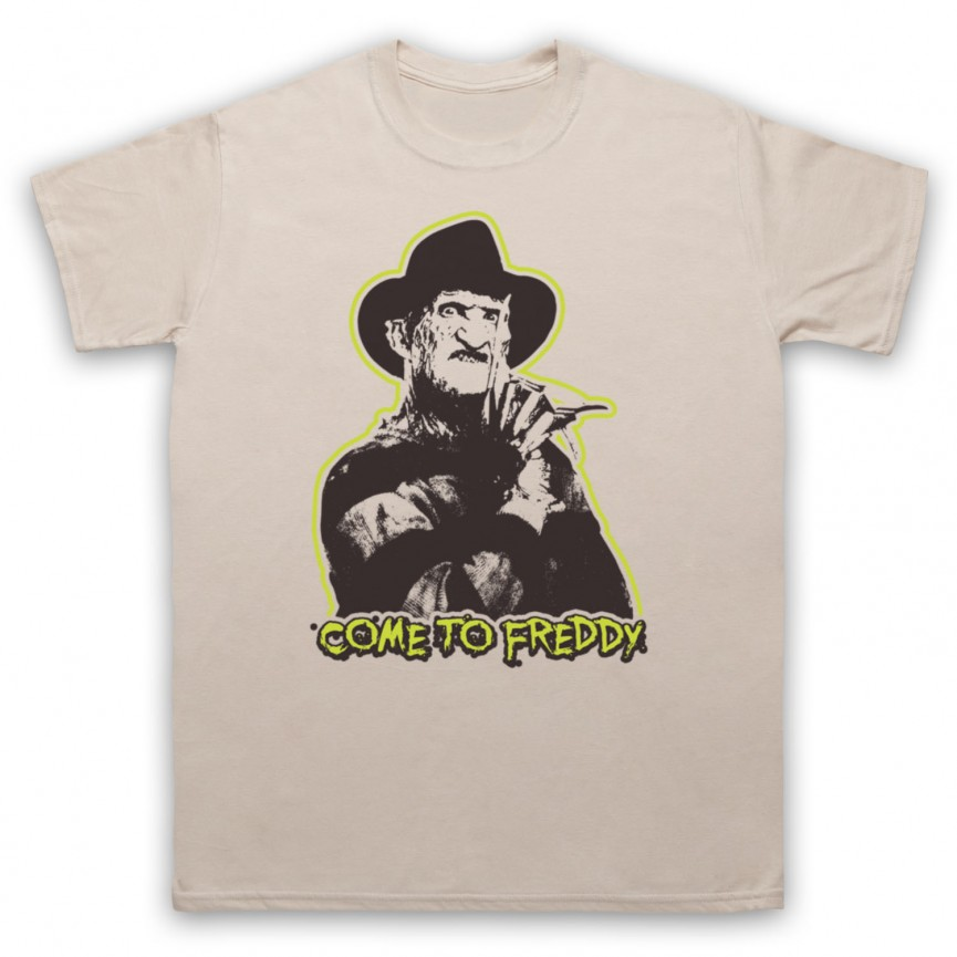 A Nightmare On Elm Street Come To Freddy Mens Sand T-Shirt
