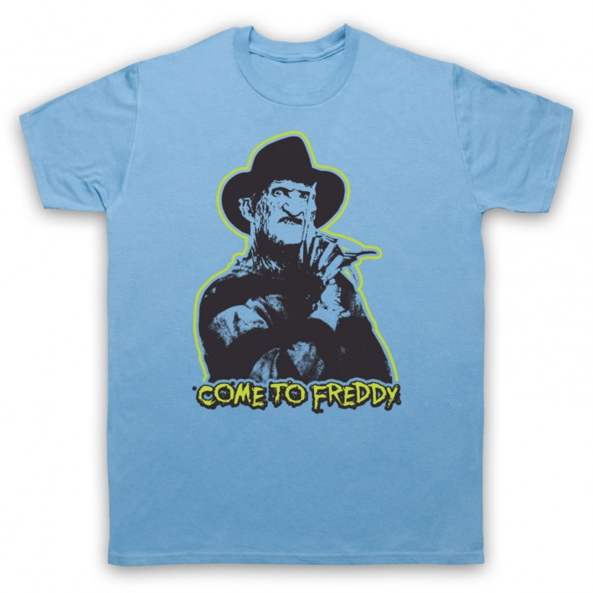 A Nightmare On Elm Street Come To Freddy Mens Sky Blue T-Shirt