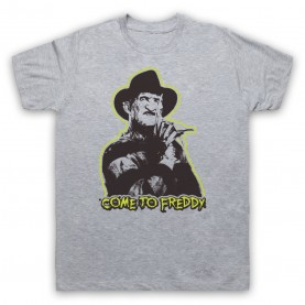 A Nightmare On Elm Street Come To Freddy Mens Heather Grey T-Shirt